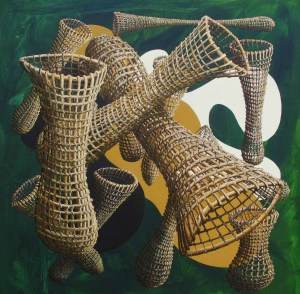 'Landscape of Nets and Inlets II' 760 x 760mm